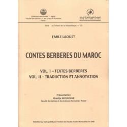 Contes berbères du Maroc Vol.I-textes berberesVol.II- traduction et annotation